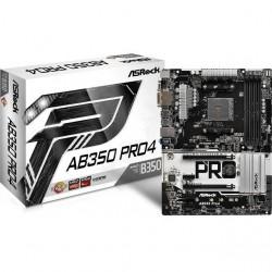 ASRock - AB350 PRO4 - ASRock AB350 PRO4 Socket AM4/ AMD B350/ DDR4/ SATA3&USB3.0/ M.2/ A&GbE/ ATX Motherboard
