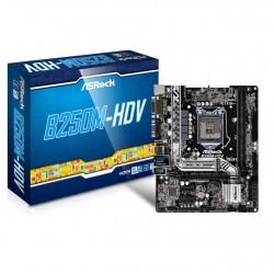 ASRock - B250M-HDV - ASRock B250M-HDV LGA1151/ Intel B250/ DDR4/ SATA3&USB3.0/ M.2/ A&GbE/ MicroATX Motherboard