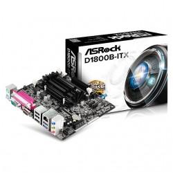 ASRock - D1800B-ITX - ASRock Motherboard D1800B-ITX Intel Dual-Core Processor J1800 Mini-ITX DDR3/DDR3L PCI Express Retail
