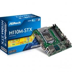 ASRock - H110M-STX - ASRock H110M-STX LGA1151/ Intel H110/ DDR4/ SATA3&USB3.0/ M.2/ A&GbE/ Mini-STX Motherboard