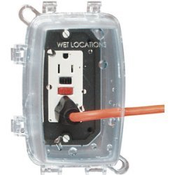 Intermatic - WP-1100C - Intermatic WP1000 Series Weatherproof Recepticle Cover - Supports Receptacle - Clear