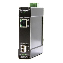 Red Lion Controls - 1002MC-LX-40 - 1002MC-LX-40 - N-Tron 10/100/1000BaseT to 1000BaseLX Media Converter (Singlemode, SFP Pluggable Mini-GBIC w/ LC style connector, 40km) DIN-Rail