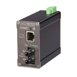 Red Lion Controls - 102MCE-SC-40-MDR - 102MCE-SC-40-MDR - N-Tron 10/100BaseTX to 100BaseFX Media Converter (Singlemode, SC style connector, 40km) Metal DIN Rail Connector