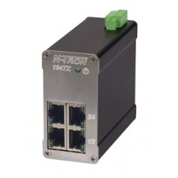 Red Lion Controls - 104TX-MDR - 104TX-MDR - N-Tron 4 port 10/100BaseTX Industrial Ethernet Switch, Metal DIN Rail Connector