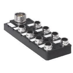 Turck - 8MB12Z-5-15/S90 - Turck 8MB12Z-5-15/S90 8-port J-box; 2 signal per port (U2-00983) 8MB12Z515S90