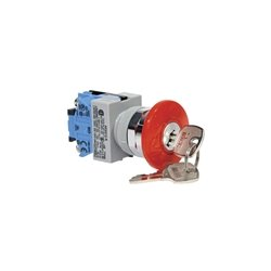 IDEC - AXW411-R - AXW411-R - IDEC TW Series Push Lock Key Operator Switch