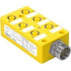 Turck - U7009-1 - Turck VB60-N7X7-5 6-Port, 1-Signal per Port, NPN LEDs, Integral Cable (U7009-1)