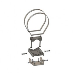 Cambium Networks - EOL_N000065L039A - Cambium PTP 650 Low Profile Large Diameter Pole Mount Bracket ***EOL***