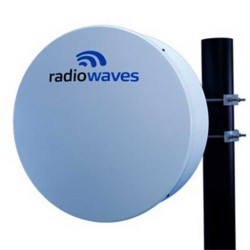 Radio Waves - HPCD2-11FX - Radio Waves 11 GHz 34.5 dBi 2 ft. Commercial Parabolic Antenna for Ubiquiti AF-11FX (w/ 3 Year Warranty)