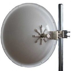 Jirous - JRC-32 DUPLEX PRECISION - Jirous 5.45-5.85Ghz 32dBi 1000mm Dish Antenna (N-Female) w/ JDMW-900 R Mounting Brackets