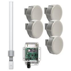 MikroTik - MTK-5GMRPTMPOMNI - MikroTik 5GHz PtMP Link Starter Kit with an Omni 13dBi Antenna