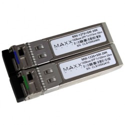 Maxxwave - MW-1270+SM-20K-PAIR - Maxxwave Single-Mode BIDI SFP+ Fiber Module Pair 1270nm/1330nm 20km