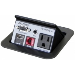 Altinex - TNP128 - Altinex Tilt 'N Plug Jr TNP128 Power/Data Outlet - 1 x Power Receptacles - 110 V AC / 5 A Square Tabletop