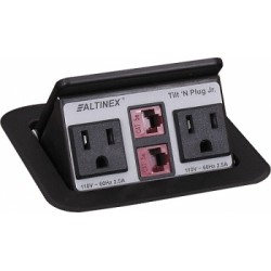 Altinex - TNP151 - Altinex Tilt 'N Plug Jr Power/Data Outlet - 110 V AC / 12 A Tabletop