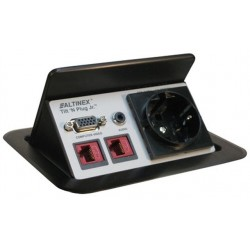 Altinex - TNP421 - Altinex TNP421 Tilt 'N Plug Jr. Tabletop Interconnect Box Continental Europe