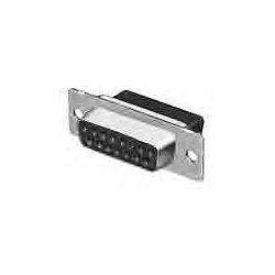 TE Connectivity - 205203-8 - D Sub Connector Housing, 9 Positions, D Sub, DE, AMPLIMITE HDP-20 Series, Receptacle, Steel Body