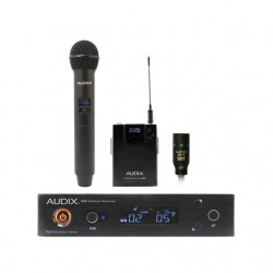 Audix - AP41OM2L10B - Audix Microphones Combination R41 Diversity Receiver, H60/OM2 Handheld Transmitter and B60 Bodypack Transmitter with ADX10 Lavalier Microphone