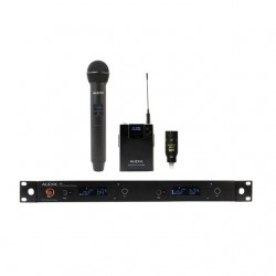 Audix - AP42C210B - Audix Microphones R42 Two Channel Diversity Receiver, H60/OM2 Handheld Transmitter and B60 Bodypack Transmitter with ADX10 Lavalier Microphone