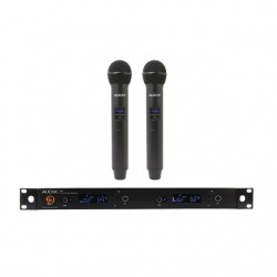 Audix - AP42OM5 - Audix Microphones R42 Two Channel Diversity Receiver with Two H60/OM5 Handheld Transmitters