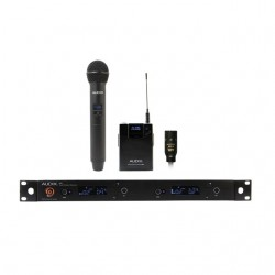 Audix - AP62C210 - Audix Microphones R62 Two Channel True Diversity Receiver, H60/OM2 Handheld Transmitter and B60 Bodypack Transmitter with ADX10 Lavalier Microphone