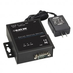 Black Box Network - LES301AKIT - Black Box 1-Port 10/100 Device Server - RS-232/422/485, DB9 M, Kit