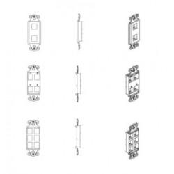 Belden / CDT - AX104111 - Panels - KeyConnect Decora Adapter 2 Port