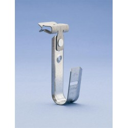 Caddy - CAT1224SM - Caddy CAT1224SM 3/4in J-Hook Assembled to Hammer-on 1/8in thru 1/4in Flange - Side Mount