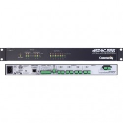 Community Pro Loudspeakers - DSPEC226AN - Community Professional Loudspeakers 4x6 Networked Loudspeaker Processor