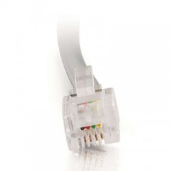 C2G (Cables To Go) / Legrand - 02971 - C2G RJ11 6P4C Straight Modular Cable