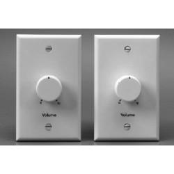 Lowell - 100LVCSW - Lowell 100LVCS 100W Standard 1-Piece Plastic Volume Control Attenuators, 3dB / 33dB