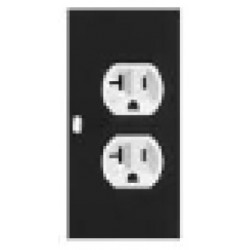 Lowell - 4 - Lowell 4 POWERSTAC Modular Power Strips, 5in Module: DUPLEX (1) 20A (NEMA 5-20R)