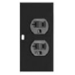Lowell - 5 - Lowell 5 POWERSTAC Modular Power Strips, 5in Module: DUPLEX (1) 20A Isolated Ground (NEMA 5-20R)