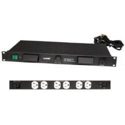 Lowell - ACR1507HDLT - Lowell ACR1507HDLT Rackmount Panel with Hooded Lights & AC Power 1U
