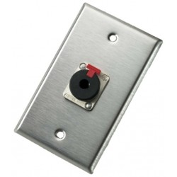 Neutrik - 103P - Neutrik 103P Single Gang Wallplate with 1/4in Locking Jack