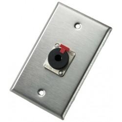 Neutrik - 103P - Neutrik 103P Single Gang Wallplate with 1/4in Locking Jack