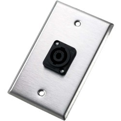 Neutrik - 104L - Neutrik 104L Single Gang Wallplate with Male Receptacle