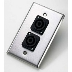 Neutrik - 204L - Neutrik 204L Wall Plate with Dual Female Speakon Connectors