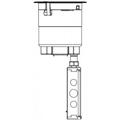 Wiremold / Legrand - 6ATCBK - Wiremold 6ATC Evolution 6ATCP Series Recessed Assembly with Surface Style Cover