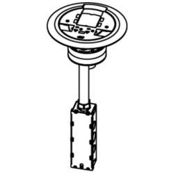 Wiremold / Legrand - AV3ATCAA - Wiremold AV3ATC Assembled Poke-Thru Device