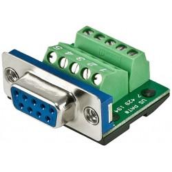 West Penn Wire - CNMX9F - West Penn Wire CNMX9 MaxBlox Premium DB9 (F) or DB9 (M) Terminal Block RS-232