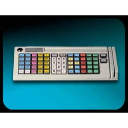 Logic Controls - KB5000M-BG - Pos Layout 66 Key Prog. Kybd 2 Track Msr Wedge Keylock Beige