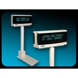 Logic Controls - LD9900U-GY - Pole Display 9.5mm 2x20 Usb Logic+opos+jpos Command Sets Gray