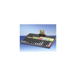 PrehKeyTec - 90328-614/1800 - Prehkeytec, Mci128 Programmable Keyboard (compact, 128-key, Row & Column, Usb Cable, And 3 Track Msr) - Color: Black
