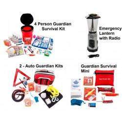 Guardian Survival Gear - PPK3 - Preparedness Package 3 Discount (OK4P, 2 - SKAK, SKMK, LCLT)