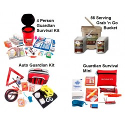 Guardian Survival Gear - PPK4 - Family Preparedness Package w/ Food Storage