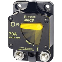 Blue Sea Systems - 7141 - Breaker, 187, Surface Mnt DC 70A
