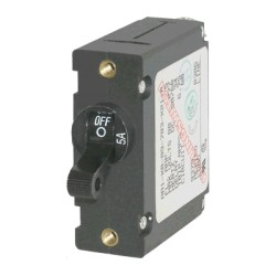 Blue Sea Systems - 7200 - Breaker, A, 1 Pole Blk-Toggle AC/DC 5A