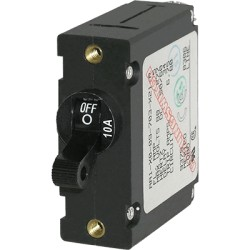 Blue Sea Systems - 7204 - Breaker, A, 1 Pole Blk-Toggle AC/DC 10A