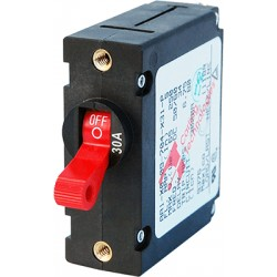 Blue Sea Systems - 7221 - Breaker, A, 1 Pole Red-Toggle AC/DC 30A