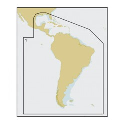 C-Map - SA-M504-SD - MAX Mega, S.America & S.Caribbean, SD